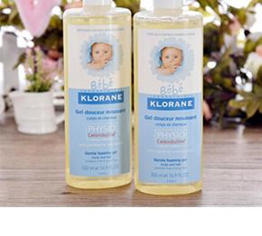 法国Klorane  婴儿洗发沐浴乳 2合1 500mX2