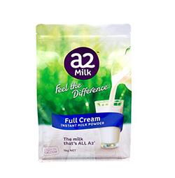 A2成人奶粉新包装 全脂奶粉 1kg /袋 ×6