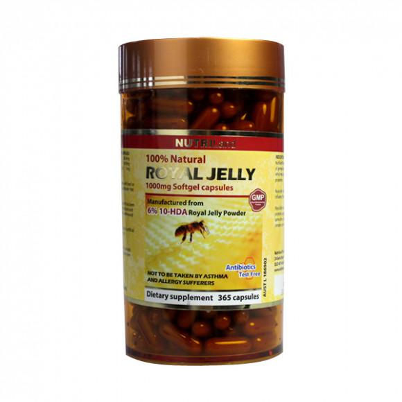 【2件装】澳洲富莱NUTRILand 野生无抗生素蜂王浆 1000mg 365粒(11mg HDA)