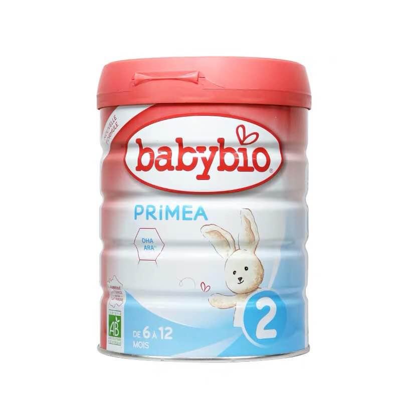 法国直邮 伴宝乐BABYBIO PRIMEA 标准型2段 900克 6罐装