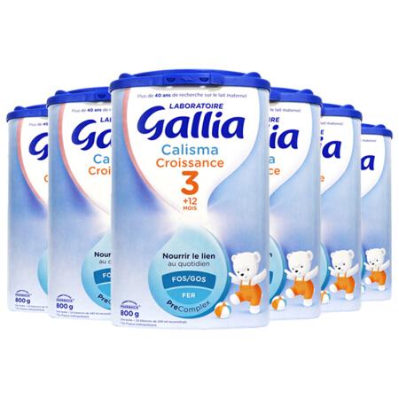 法国佳丽雅 gallia 标准型3段 800g 6罐装 (12个月以上宝宝食用)