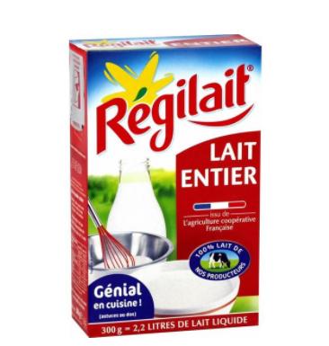 【法国直邮包邮包税】法国Régilait瑞记高钙全脂成人奶粉 10盒装