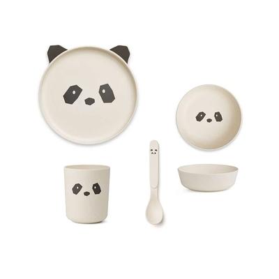 【现货爆款】丹麦 liewood 儿童婴幼儿竹纤维 动物餐具4件套