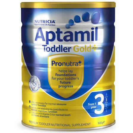 【6罐装】澳洲直邮包税 爱他美Aptamil 婴幼儿奶粉3段(12个月以上)900g ×6罐