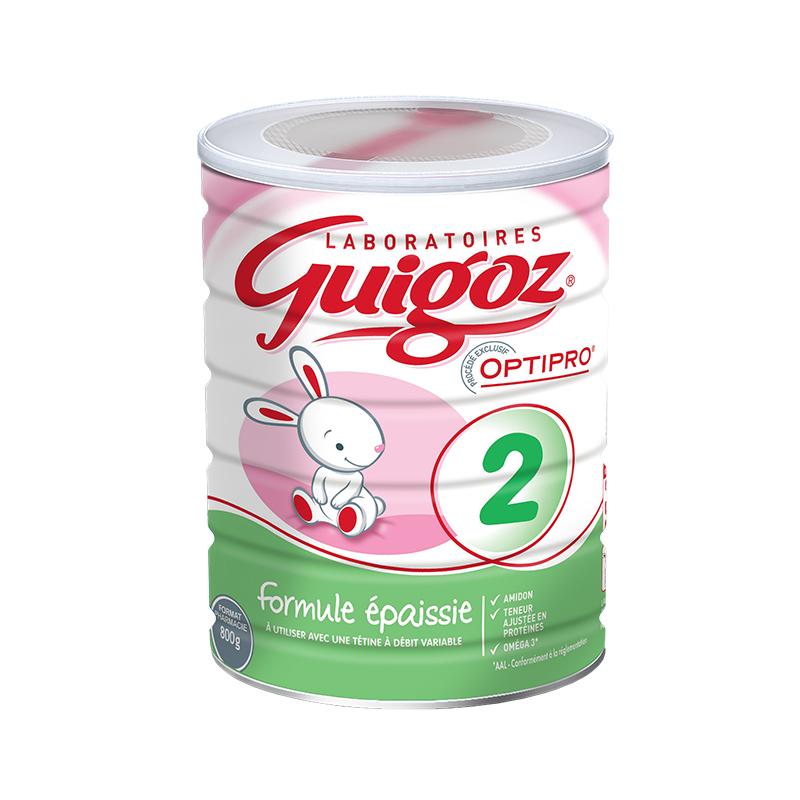 【 6罐装】法国直邮Guigoz 古戈氏浓稠配方防吐2段 800G