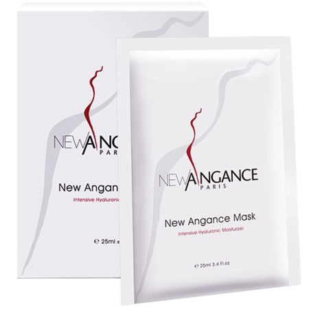 【国内现货】法国new angance 心仙格玻 玻尿酸修复补水面膜 10片/盒