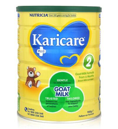 【3罐装】澳洲直邮包邮包税可瑞康Karicare婴幼儿羊奶粉2段(6-12月)900g×3罐