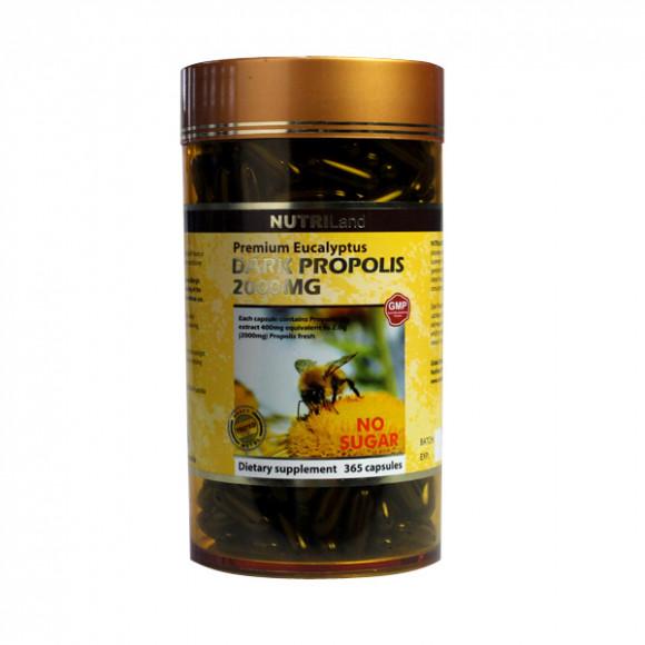 【2件装】澳洲富莱NUTRILand 野生黑蜂胶2000mg (无糖) 365粒