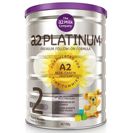 【6罐装】澳洲直邮包税 a2 Platinum 白金版婴幼儿奶粉2段900g ×6罐(适合6-12个月宝宝)