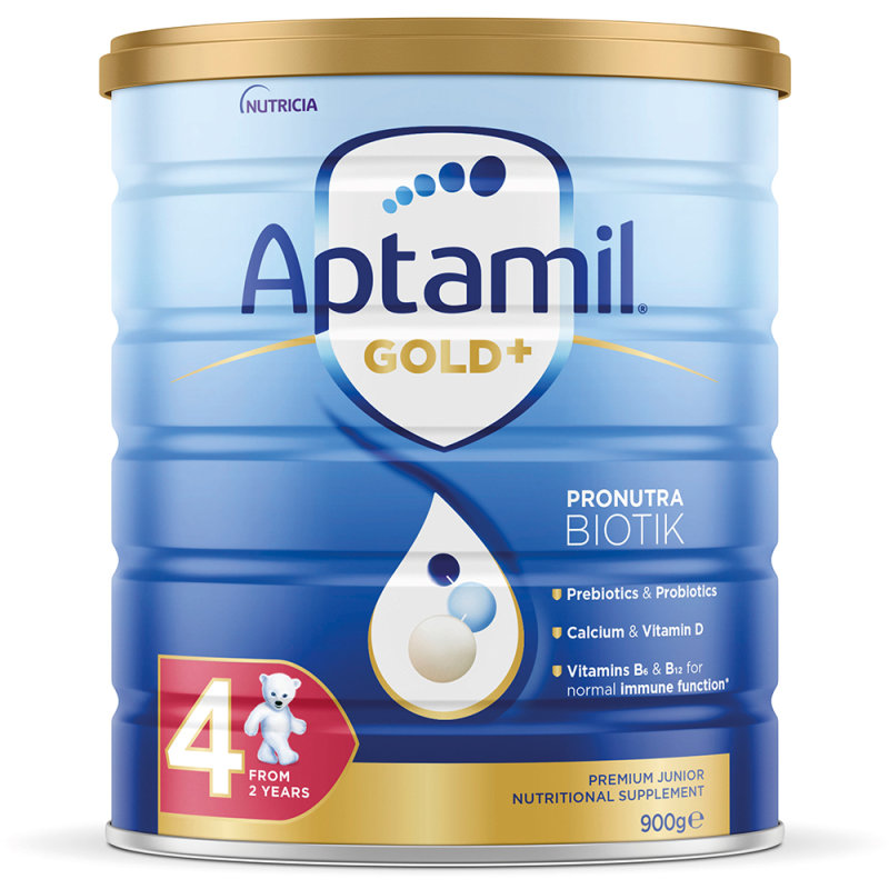 【3罐装】澳洲药房直邮爱他美Aptamil 婴幼儿奶粉4段(2岁以上)900g ×3  三罐装