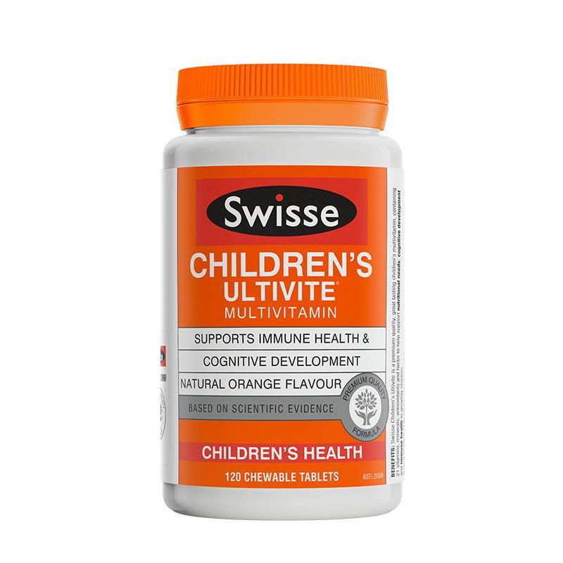 澳洲直邮 Swisse 儿童复合维生素矿物质咀嚼片 120粒/瓶