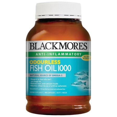 【2件装】Blackmores 澳佳宝 无腥鱼油400粒 澳洲药房直供