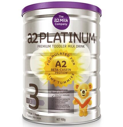【6罐装】澳洲直邮包税 a2 Platinum 白金版婴幼儿奶粉3段900g ×6罐(1-3岁)