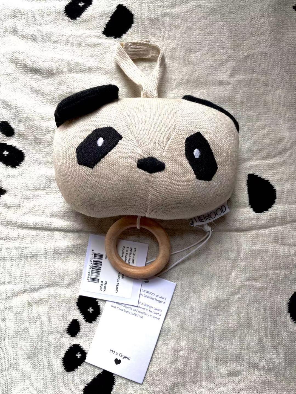 【现货爆款】丹麦 liewood 宝宝安抚床挂 大号灰白熊猫