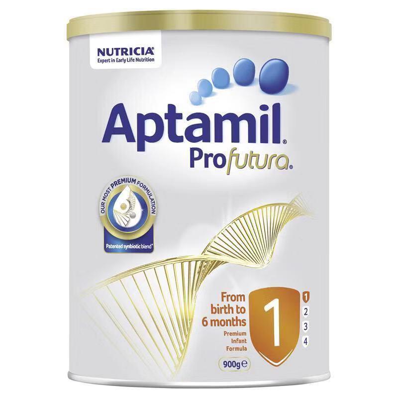 【6罐装】澳洲直邮包税 爱他美Aptamil 白金版婴幼儿奶粉1段(0-6个月)900g×6罐