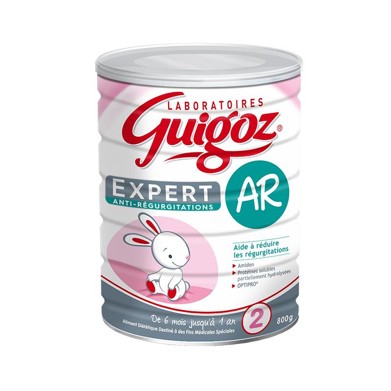 【 6罐装】法国直邮Guigoz 古戈氏专业配方防吐2段 800G