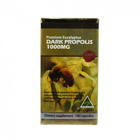 【2件装】澳洲富莱NUTRILand 野生黑蜂胶1000mg (无糖) 100粒