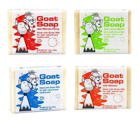 澳洲Goat Soap手工山羊奶皂100g(原味/婴儿型/椰子/柠檬/蜂蜜/摩洛哥油/燕麦合计7种) 任选4块,可备注所需型号