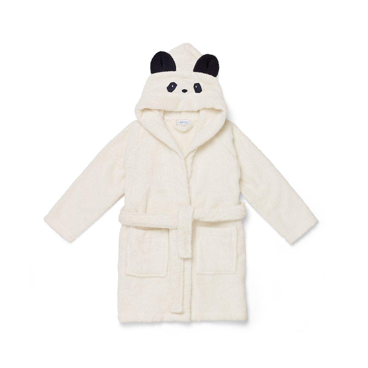 【现货爆款】丹麦 liewood 1-2岁幼儿童熊猫带帽浴袍家居服100%有机棉毛圈