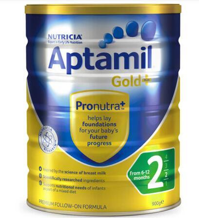 【6罐装】澳洲直邮包税 爱他美Aptamil 婴幼儿奶粉2段(6-12个月)900g×6罐