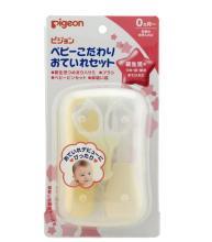 贝亲Pigeon婴儿护理身体  指甲钳吸鼻器理发刷镊子 4件套装