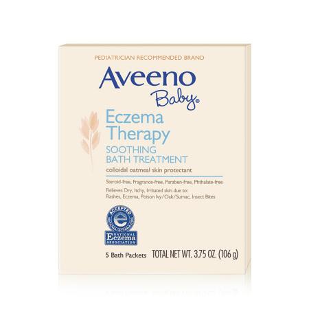 【国内现货】Aveeno艾维诺婴儿多效修护沐浴粉106g(5小包/盒)