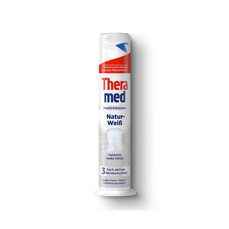 原装进口汉高Theramed护齿达按压式美白防蛀立式牙膏100ml
