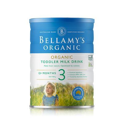 【3罐装】澳洲直邮包税 Bellamys贝拉米3段婴幼儿有机牛奶粉3段 900g ×3罐  (1-3岁以上)