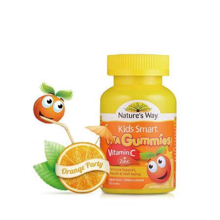 澳洲直邮 Nature's Way Kids Smart佳思敏儿童软糖系列 儿童维生素C+锌软糖 60粒