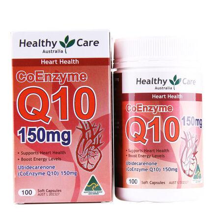 【2件装】 Healthy Care Q10辅酶150mg 胶囊100粒 澳洲药房直供