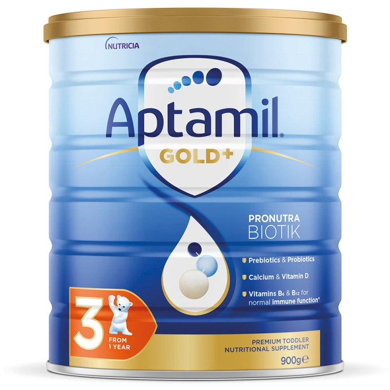 【3罐装】澳洲药房直邮爱他美Aptamil 婴幼儿奶粉3段(12个月以上)900G ×3  三罐装