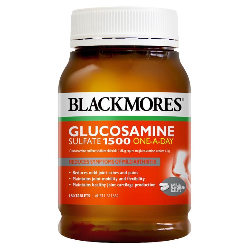 【2件装】澳佳宝(Blackmores)维骨力关节灵软骨素氨基葡萄糖钙片 180粒