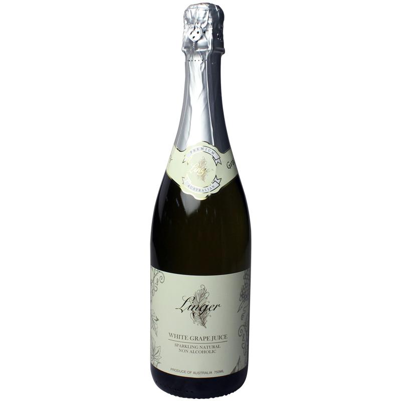 【2瓶装】澳洲原装进口 LINGER品牌 LINGER WHITE GRAPE JUICE  白葡萄汁750ml/瓶×2瓶
