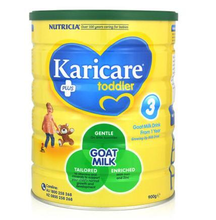 【3罐装】澳洲直邮包邮包税 可瑞康Karicare 婴幼儿羊奶粉3段(12个月以上)900g ×3罐