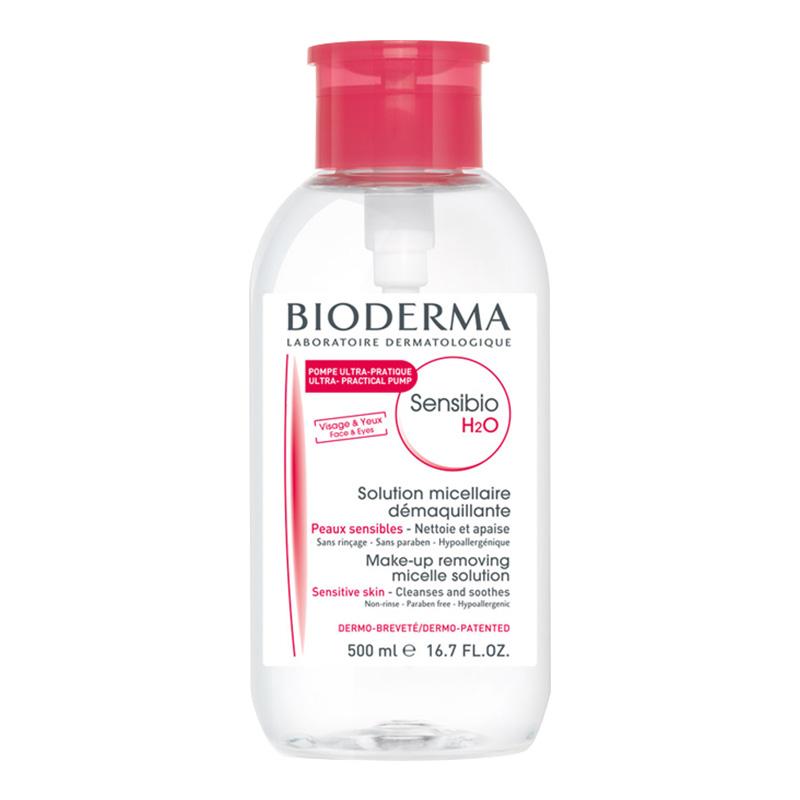 【香港仓库】法国Bioderma 贝德玛 舒妍温和保湿卸妆水(粉水) 500ml