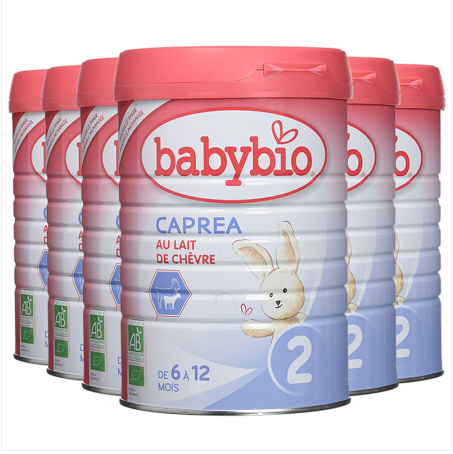 法国BABYBIO CAPREA伴宝乐 有机婴幼儿配方奶粉 羊奶粉900g 2段 6罐装