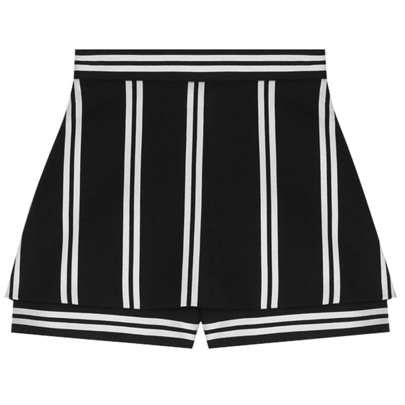 【国内现货】法国Maje 拼色竖条纹休闲裙裤 38码
