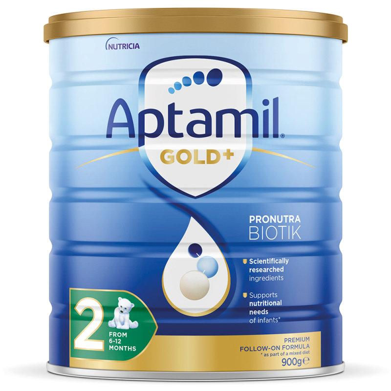 【3罐装】澳洲药房直邮包邮包税爱他美Aptamil 婴幼儿奶粉2段(6-12个月)900g×3罐