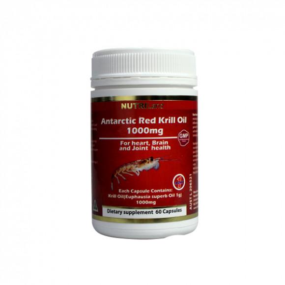 【2件装】澳洲富莱NUTRILand 南极红磷蝦油1000毫克膠囊 60粒/瓶   直邮包税