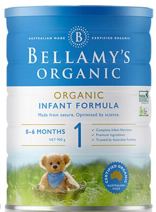 澳洲直邮包邮包税 Bellamys贝拉米1段婴幼儿有机牛奶粉1段(0-12个月) 900g