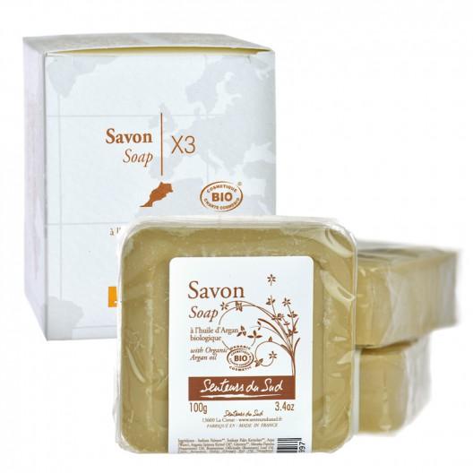 【3块装】senteurs du sud法国南部香馨阿甘油润肤香皂100g