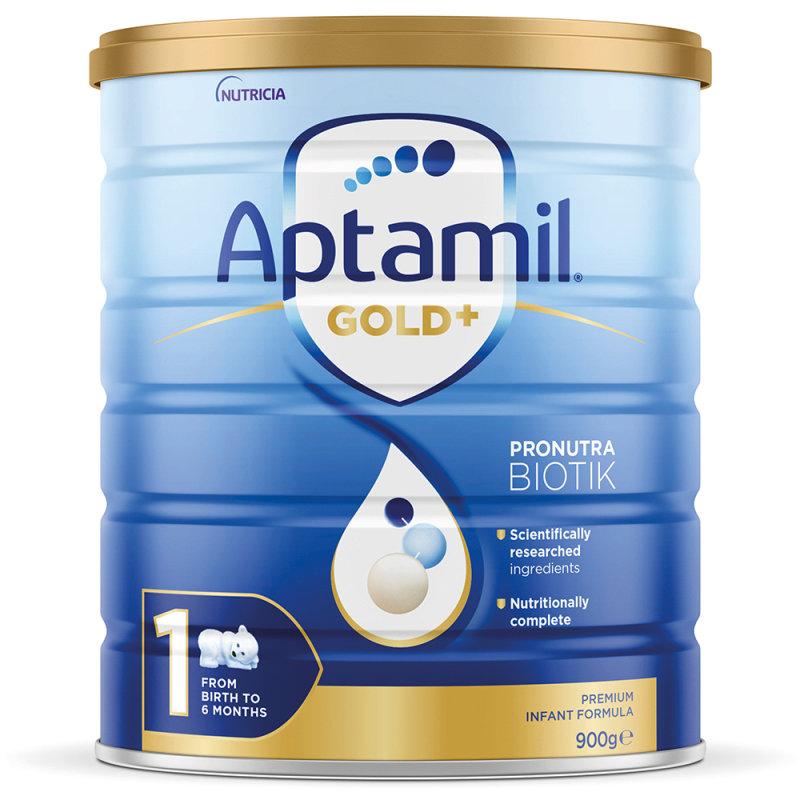 【3罐装】澳洲直邮包邮包税 爱他美Aptamil 婴幼儿奶粉1段(0-6个月)900g