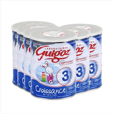 【法国直邮包邮包税】古戈氏Guigoz标准型3段900g 6罐装 适合12-36个月宝宝