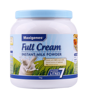 澳洲直邮包邮包税 美可卓 Maxigenes蓝胖子 成人全脂高钙牛奶粉1kg/罐