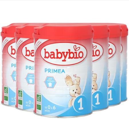 【法国直邮包邮包税】法国 伴宝乐BABYBIO PRIMEA 1段标准型- 800克 6罐装