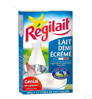 【法国直邮包邮包税】法国Régilait瑞记半脱脂成人奶粉 300g 10盒装