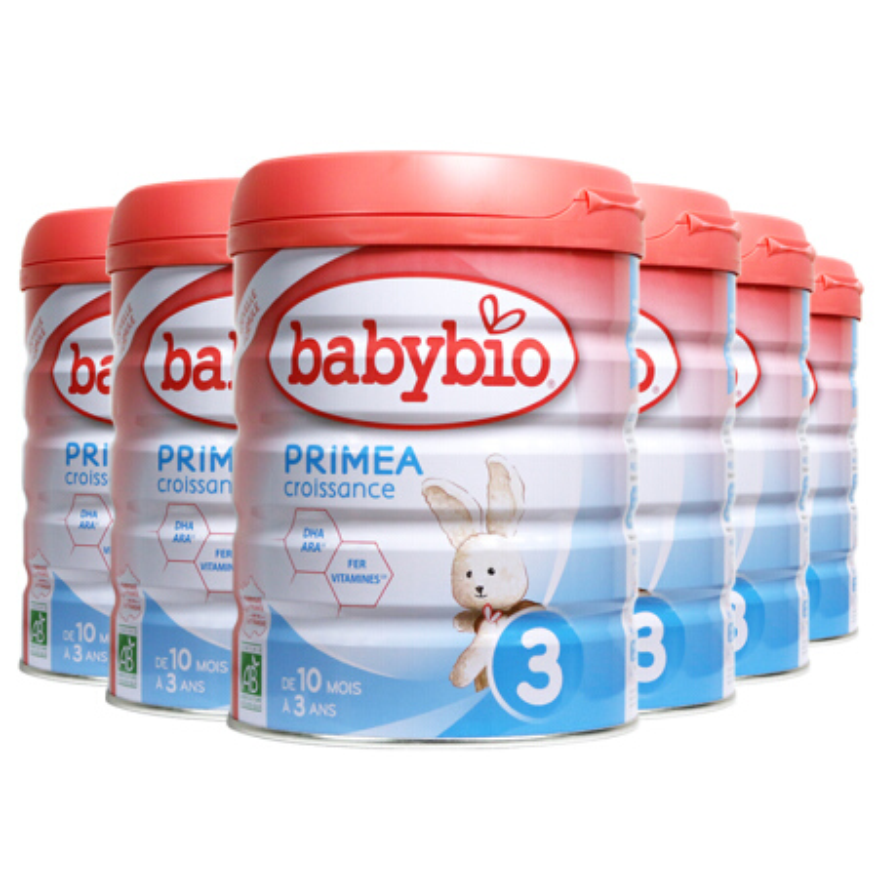 伴宝乐BABYBIO 成长奶粉 标准型3段900克6罐装