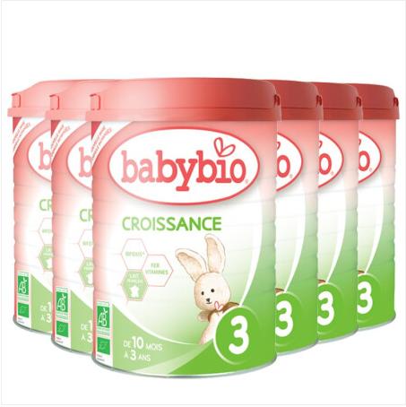 【法国直邮包邮包税】伴宝乐BABYBIO 成长奶粉 标准型3段900克6罐装