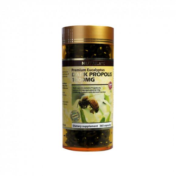 【2件装】澳洲富莱NUTRILand 野生黑蜂胶1000mg (无糖) 365粒