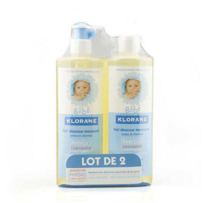 Klorane 蔻萝兰 婴儿洗发沐浴乳 2合1 500mX2